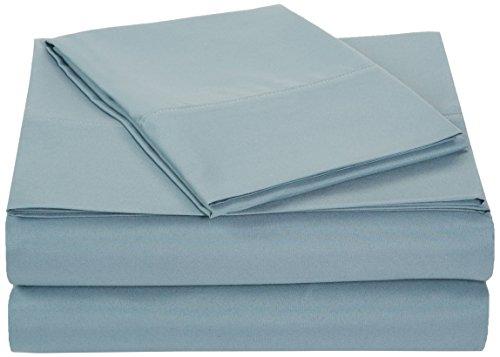 Amazonbasics Light Weight Microfiber Sheet Set Twin Extra Long Spa Blue