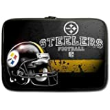 Lolili Custom Laptop Sleeve Case Cover Bag Water Resistant for 15.6 inch laptop Pittsburgh Steelers logo(Two side print)