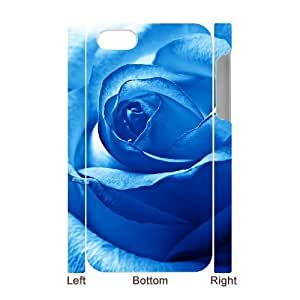 3D Bumper Plastic Case Of Colorful Rose customized case For Iphone 4/4s by supermalls