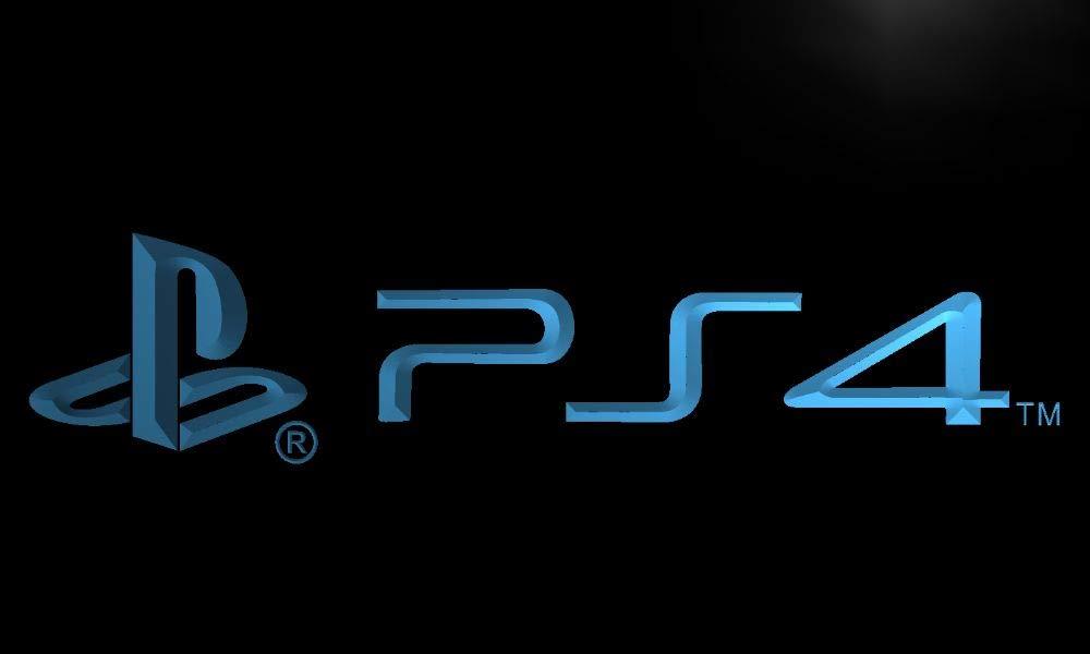Playstation 4 PS4 LED Sign Light Blue