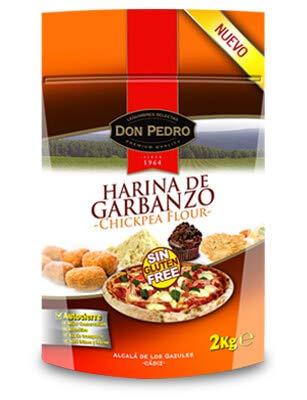 Harina de Garbanzo - Sin Gluten - Don Pedro - 2 Kg: Amazon ...