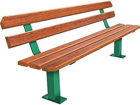 mes-meubles-jardin – Banco los angeles acero y madera: Amazon.es: Jardín