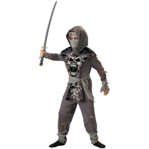 Girl Ninja Costume Makeup (Zombie Ninja Child Costume - X-Large)