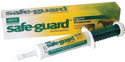 (Safe-guard Equine Paste 10% Fenbendazole Horse Wormer Control Lungworm Stomach and Intestinal Apple Flavor.)