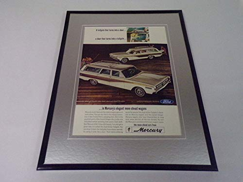 (1966 Mercury Wagons Framed 11x14 ORIGINAL Vintage Advertisement )