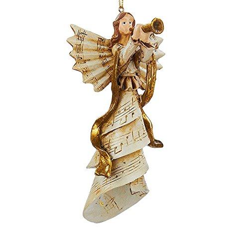 Kurt Adler Christmas Ornament Angel Playing Musical Instrument 3.25 - Musical Angels Playing Instruments