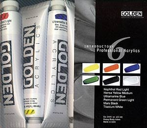 Golden Acrylic Paints - Golden Heavy Body Acrylic Introductory Set (0000074-0)