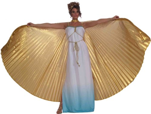 Forum Novelties Women's Theatrical Wings Costume Accessory, Gold, One Size