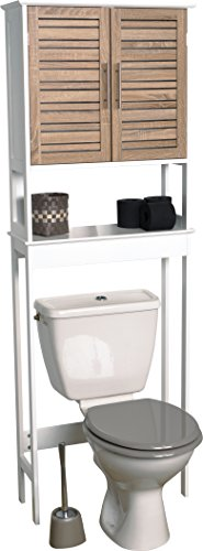 EVIDECO Stockholm 24.8'' x 70.5'' Free Standing Over the Toilet by EVIDECO