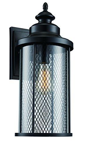 Trans Globe Lighting 40742 BK Stewart Industrial Wall Lantern, 20