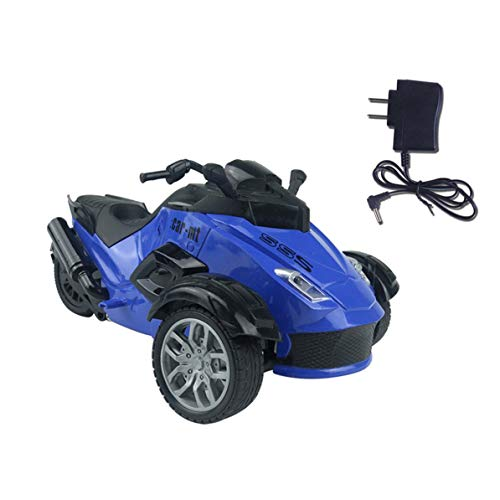 (Kmtar 1/14 4CH Infrared Remote Control RC Car High-Speed Racing 3 Wheeled ATV Ready-to-Run Motorcycle Tricycle Off-Road Vehicle Toy)