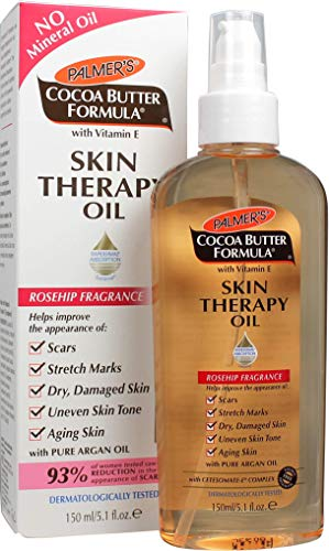 Palmer's Cocoa Butter Formula with Vitamin E Skin Therapy Oil - Body | Helps Improve Appearance of Stretch Marks, Scars, Uneven Skin Tone, Aging Skin | Rosehip Fragrance | Pump Dispenser Bottle 5.1 Oz ()