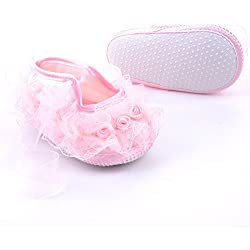 AONMY Baby Cute Non-Slip Newborn Shoes Baby Girl Toddler Cloth Shoes With Beautiful Lace
