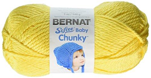 Bernat Softee Baby Chunky Yarn (5) Bulky Chunky Gauge 100% Acrylic - 5 oz -   Butterc  -  Machine Wash & Dry