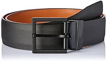 VAN HEUSEN Men's Textured Reversible Belt Textured Reversible Belt, Black (Black/Tan Reversible), 32