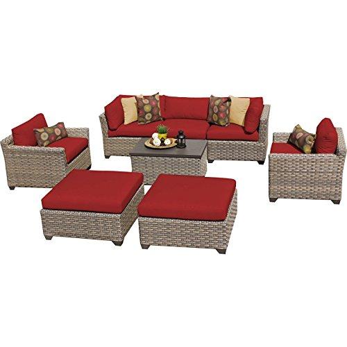 Monterey Outdoor Wicker Patio Furniture Set, Terracotta 08a ()