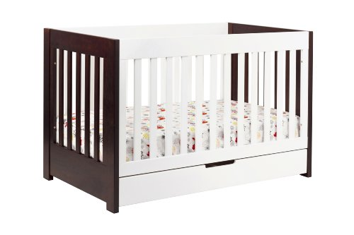 Babyletto Mercer 3-in-1 Convertible Crib with Toddler Bed Conversion Kit, Espresso / White -  M6801QW