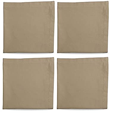 Tag 555052 Hemstitch Solid Napkin, 20 by 20-Inch, Natural, Set of 4