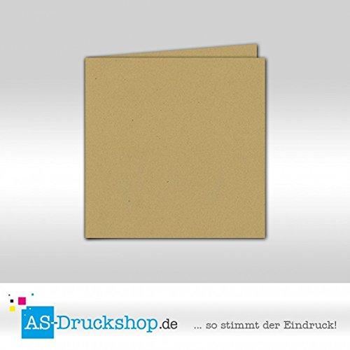 Faltkarte - Savannah - Naturfarbe 50 Stück Quadratisch 155 x 155 mm B0794ZZ9S7 | Creative