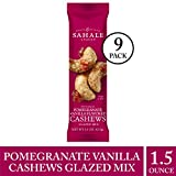 Sahale Snacks Pomegranate Vanilla Flavored Cashews Glazed Mix, 1.5 oz., Pack of 9 – Resealable Pouch, Nut Snacks with No Artificial Flavors, Preservatives or Colors, Gluten-Free Snacks