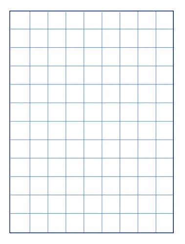 School Smart Graph Paper, 1 Inch Rule, 9 x 12 Inches, Manila, Pack of 500 (1 Inch By 1 Inch Grid Paper)