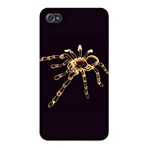 Apple Iphone Custom Case 5 5s Snap on - Glowing Spider Tarantula on Black