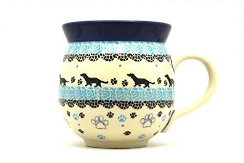 (Polish Pottery Mug - 11 oz. Bubble - Diggity Dog)