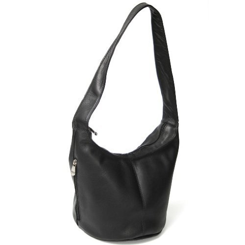 Royce Leather Women's Vaquetta Leather With Side Pocket Hobo Bag,Black,One Size ()