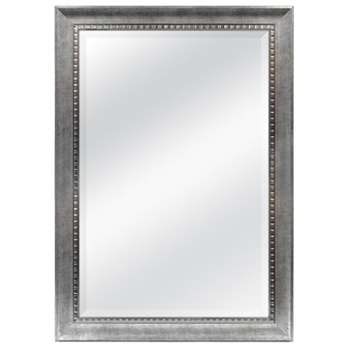 MCS 24x36 Inch Sloped Mirror with Dental Molding Detail, 29.5x41.5 Inch Overall - Of Large Bathroom Mirrors Pictures