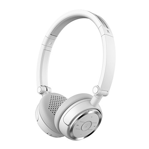Edifier W675BT Wireless Headphones - Bluetooth v4.1 On-Ear Earphones, Foldable with NFC Quick Connect - White