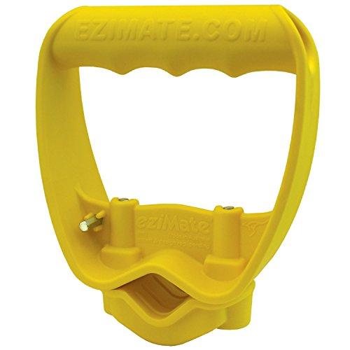 Back-Saving Tool Handle, Labor-Saving Ergonomic Shovel or Rake Handle Attachment, YELLOW