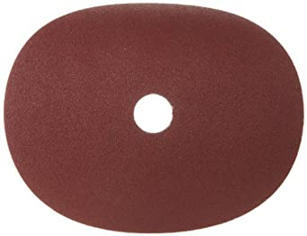 """Merit Resin Abrasive Disc, Fiber Backing, Aluminum Oxide, 7/8"""" Arbor, 7"""" Diameter, Grit 80  (Box of 5)"""
