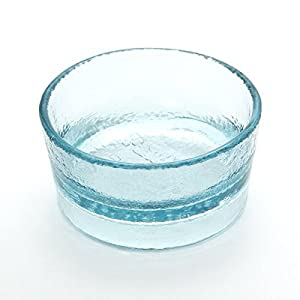 PawNosh Zorra Bowl in Ocean - 100% Recycled Glass Pet Food and Water Bowl 13