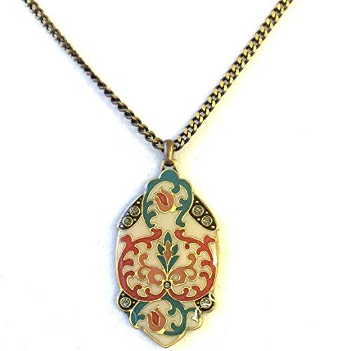 Spanish Hidden Rose Chain Pendant Necklace