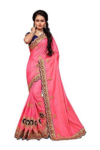 Sari Facioun for Traditional Designer Da Sarees Women Wedding Indian 7 Pink Wear Party vOWan64Z