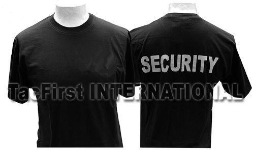 TacFirst Security-T-Shirt Schwarz Gr. S Rückendruck