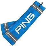 NEW Ping Tri-Fold Electric Blue/Gray Bag Cart Towel 21