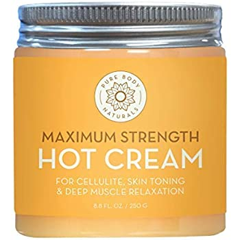 Max Strength Hot Cream - Natural Muscle Pain Relief Cream for Sore Muscles, Arthritis Pain, Sports Injuries, Chronic Pain, and Inflammation - Capsaicin ...
