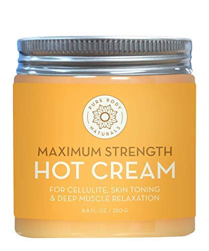 Max Strength Hot Cream - Natural Muscle Pain Relief Cream for Sore Muscles, Arthritis Pain, Sports Injuries, Chronic Pain, and Inflammation - Capsaicin Cream for Soreness, 8.8 oz, Pure Body Naturals (Anti Inflammatory Gel)