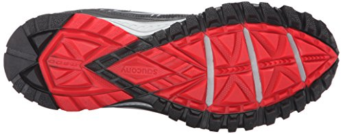 Saucony Men's Grid Excursion TR10 Running Shoe, Grey/Black/Red, 8.5 M US by Saucony (Image #3)