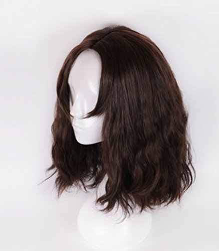 B-G New Fashion Men's Shoulder curly Layered Wig High Heat Resistant Wigs Human Hair Wigs Natural Looking Wigs+ 1 Free Wig Cap (Long Hair Wig Men)