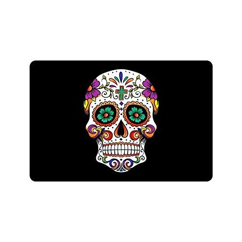 Beautiful Sugar Skull Custom Doormat/Welcome Mat (18