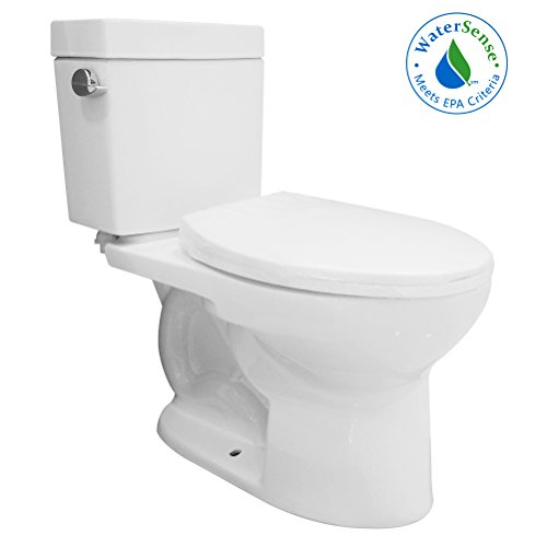 HOROW MY-2602-US Lris Two- Piece ADA Elongated Toilet with 12-Inch Rough-In, Water Sense, (High 12' Rough)