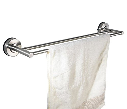 Stainless Steel Suction Cup Bathroom Wall Shelf Rack Hanging Towel (24inch) by kaileyouxiangongsi (Image #4)