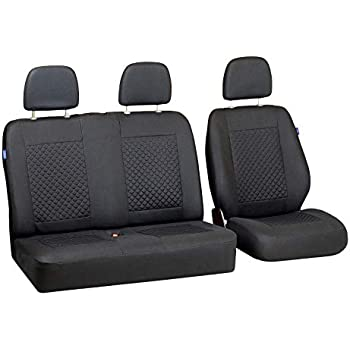 Grey Seat Covers for Peugeot Partner Van Car Seat Cover Grey Set 1+2