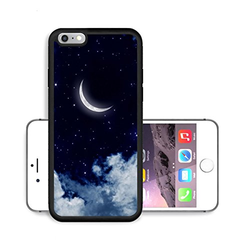 Liili Premium Apple iPhone 6 Plus iPhone 6S Plus Aluminum Snap Case Peaceful background night sky with moon stars beautiful clouds IMAGE ID 17691116 (Month Of The Freezing Moon compare prices)