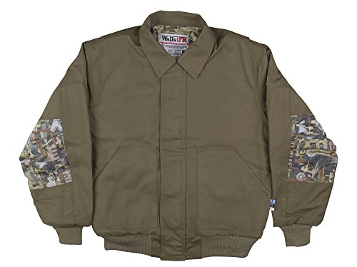 Oil and Gas Safety Supply Flame Resistant Insulated Camo Bomber Jacket-2XL