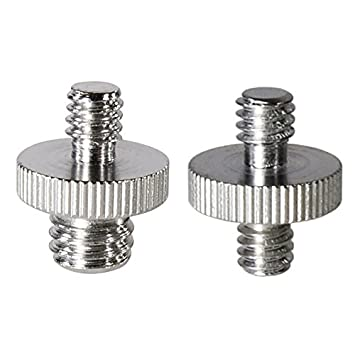 Foto&Tech 5 Pieces 1/4' Male to 3/8' Male Threaded Screw Converter Adapter for Camera Cage/Shoulder Rig/Tripod/Socket Studio/Lighting Equipment/LED panel/GoPro FotoTech