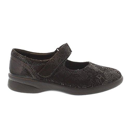 Padders Sprite 2 - Imprimé Floral Noir (cuir) Chaussures Femme