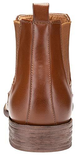 Pictures of JOUSEN Men's Chelsea Boots Elastic Formal Casual Chelsea Boots 10 M US 6